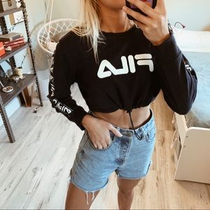 Fila crop sweatshirt
